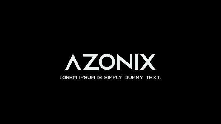 Azonix Font