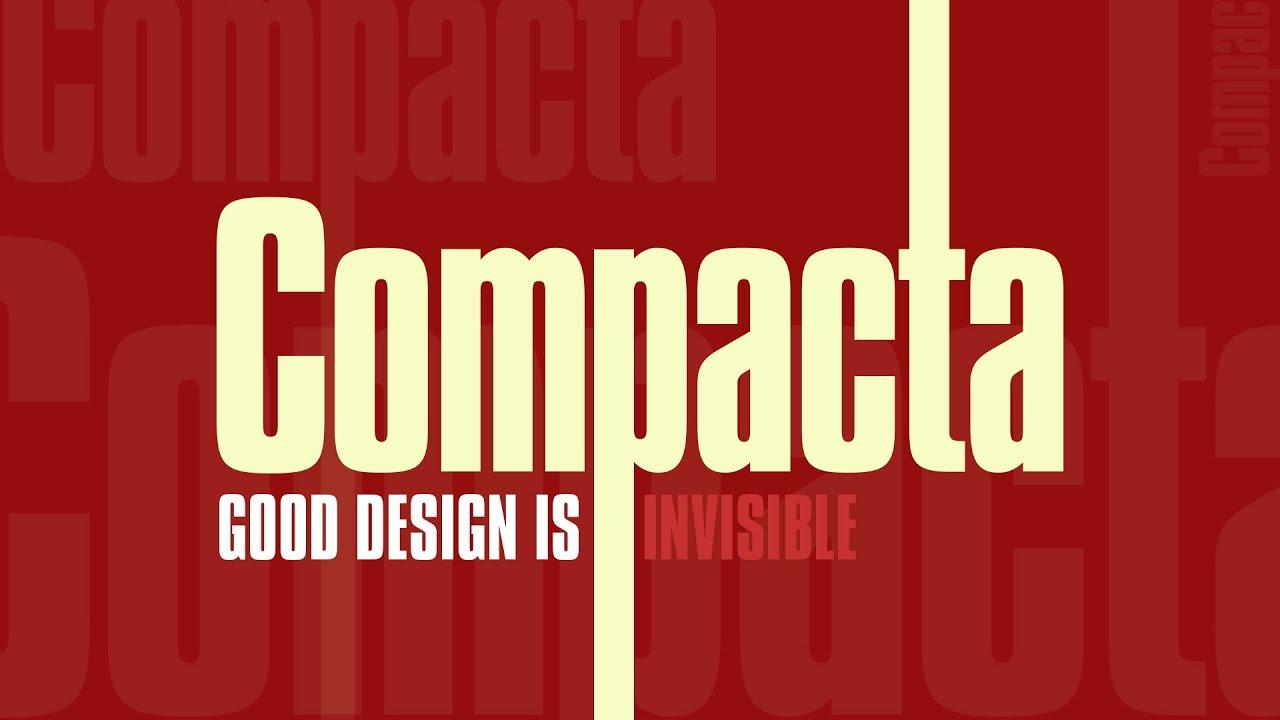Compacta font
