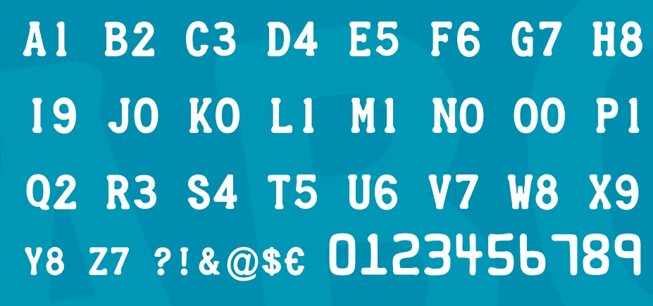 Credit Card Font View