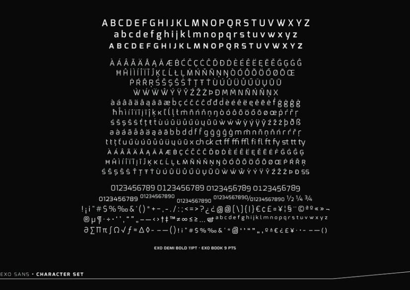 Exo Font View