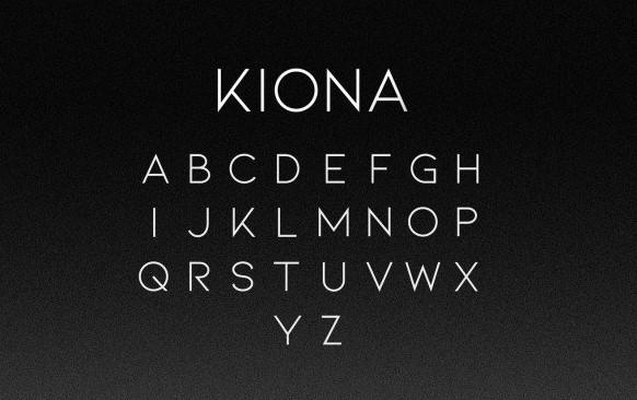 Kiona Font View