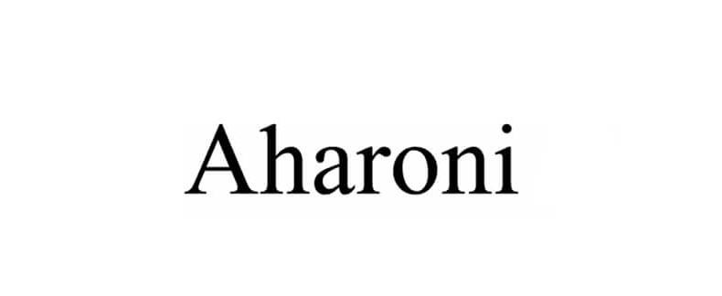 Aharoni Font