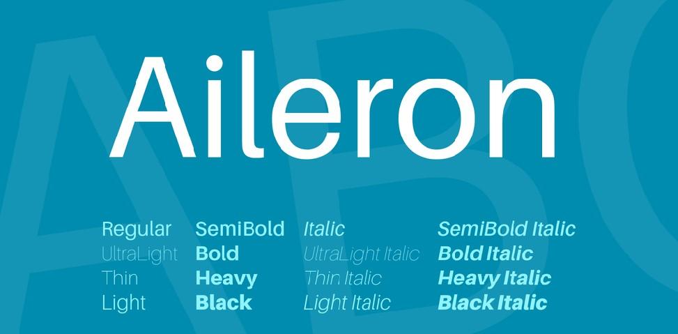 Aileron Font