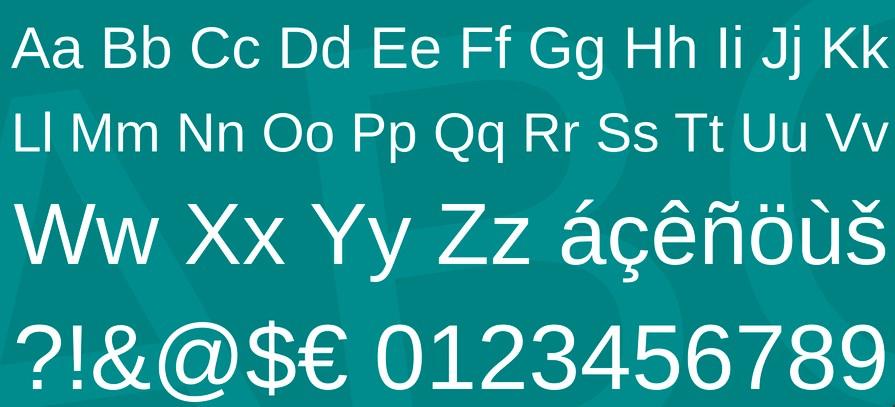 Arimo Font View