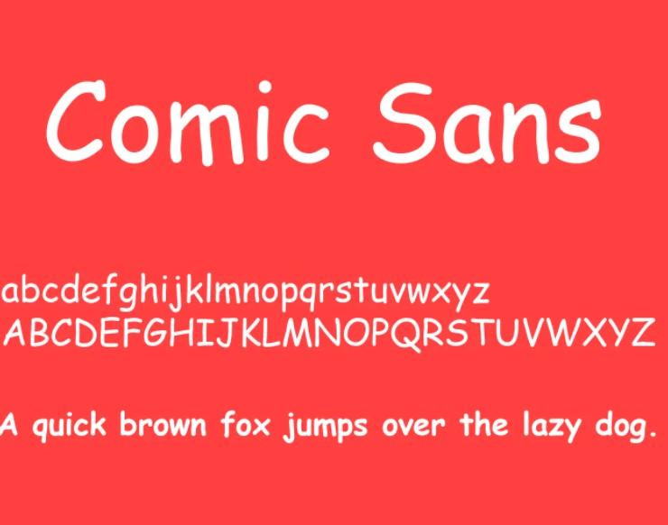 Comic Sans Font View