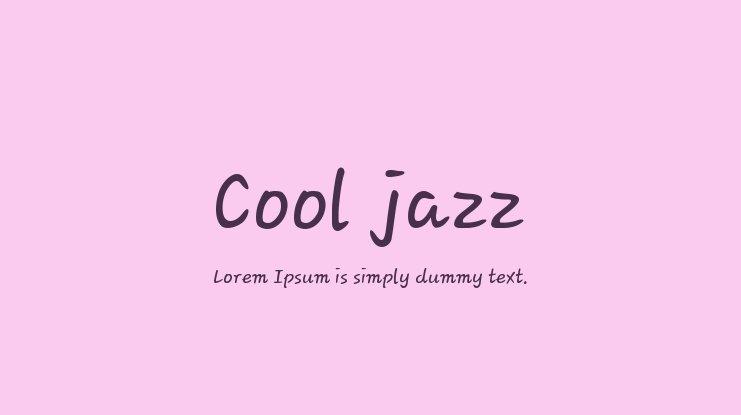 Cool Jazz Font