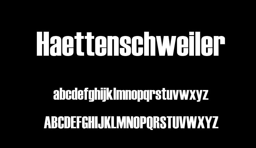 Haettenscheweiler Font View