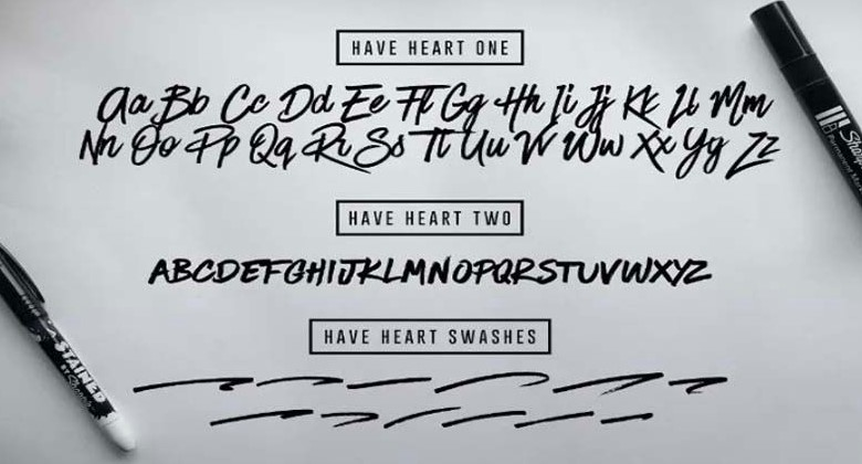 Have Heart Font View