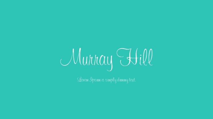 Murray Hill Font
