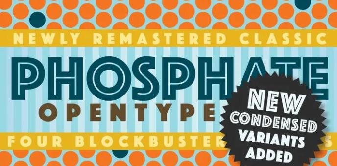 PhosphateInline Font