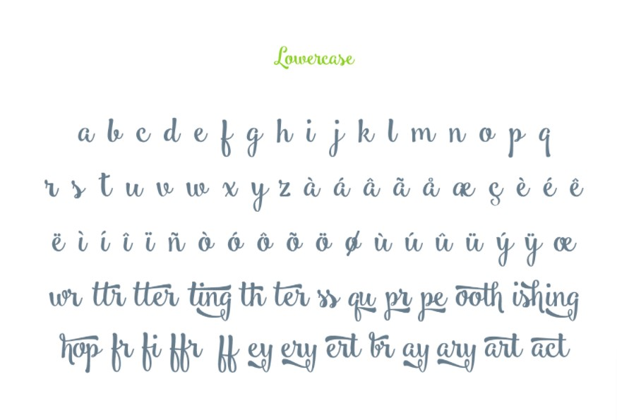 Smoothie Shoppe Font View
