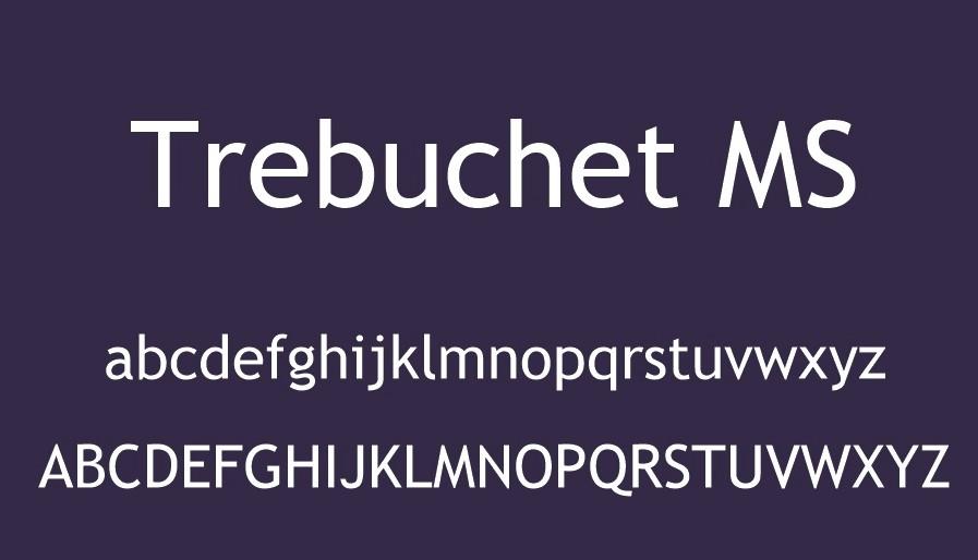 Trebuchet Font View