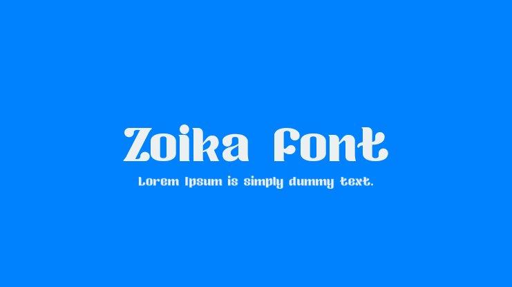 Zokia Font