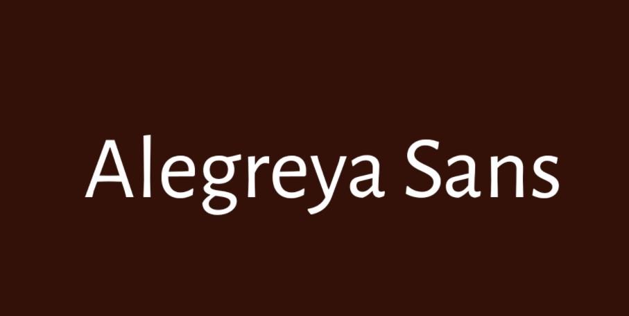 Alegreya Sans Thin Font