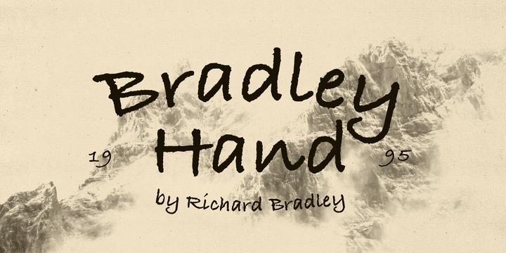 Bradley Hand ITC Std Font