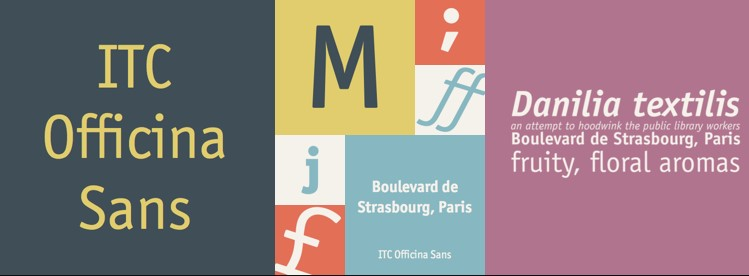 ITC Officina Sans Font
