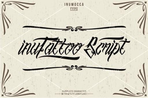Inumocca Tattoo Script Font