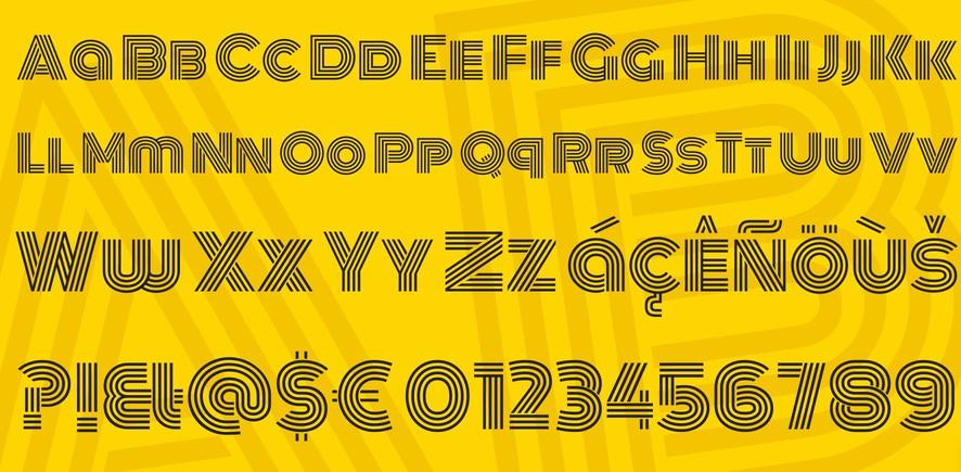 Monoton Font View