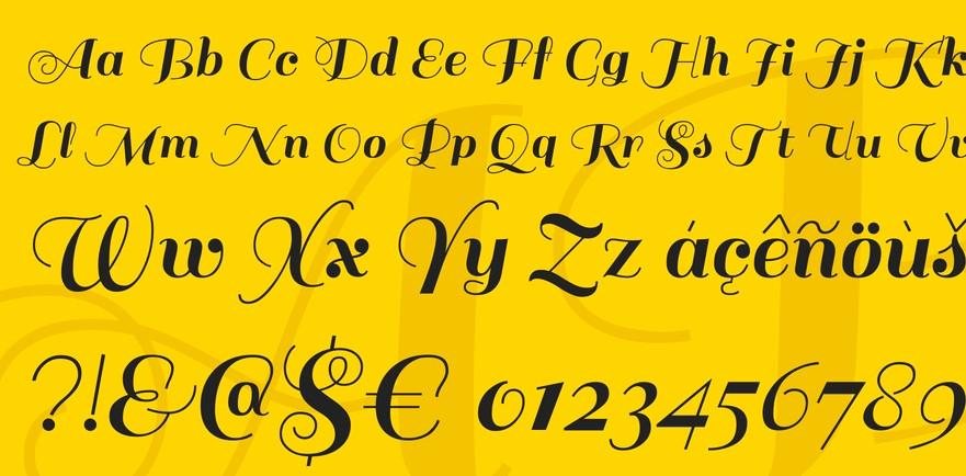 Sail Script Font View