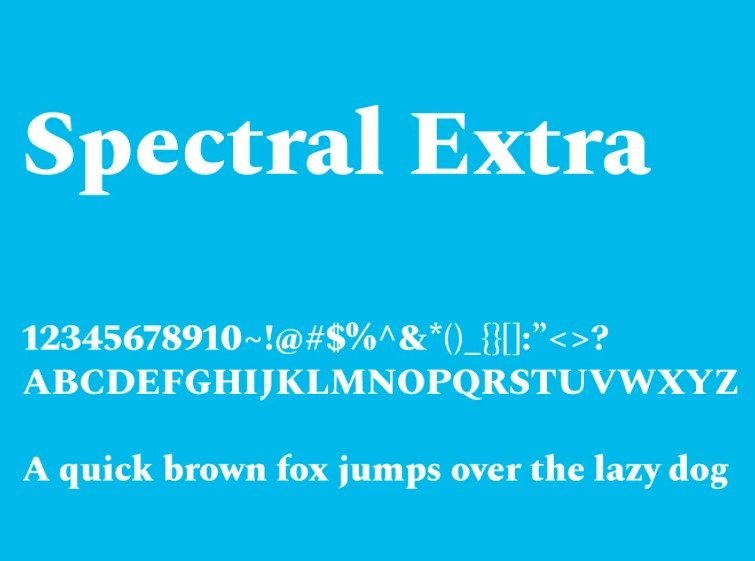Spectral Font View