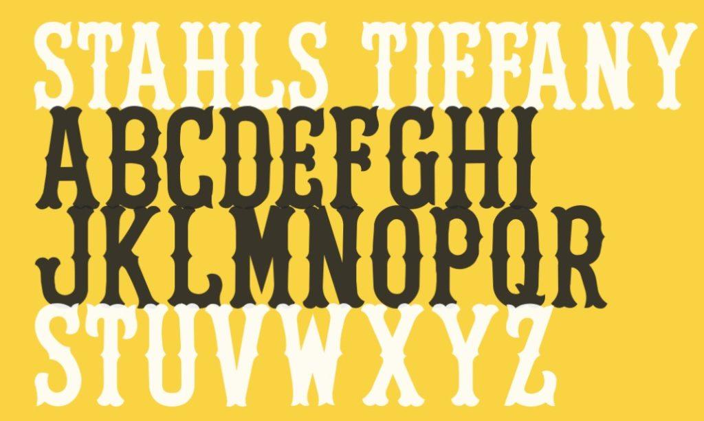 Stahls Tiffany Font