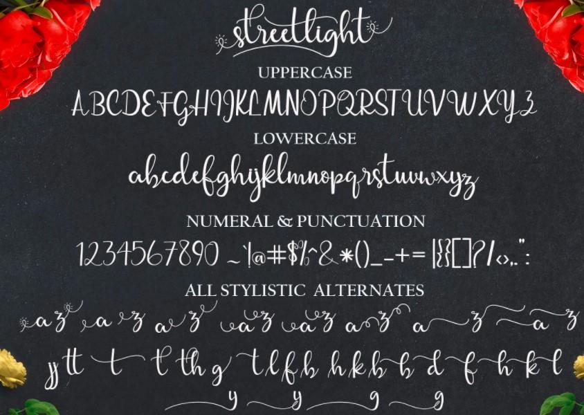 Streetlight Font View