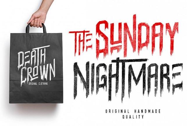 Sunday Nightmare Font View