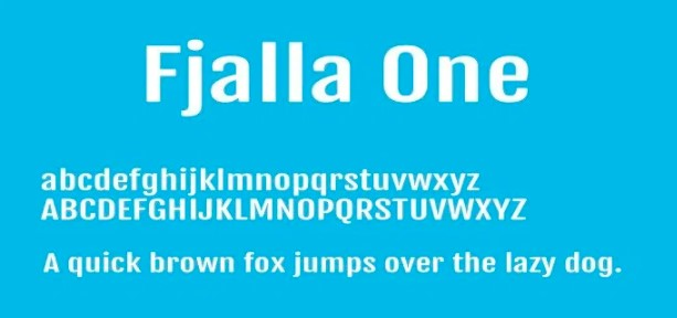 Fjalla One Font View
