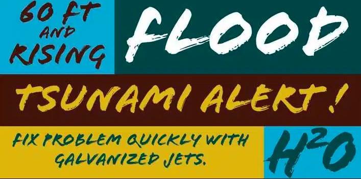 Flood Font View