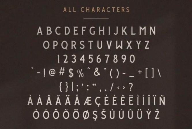 Giround Condensed Serif Font View