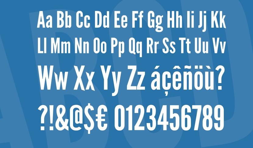League Gothic Font View