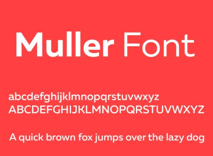Muller Font View