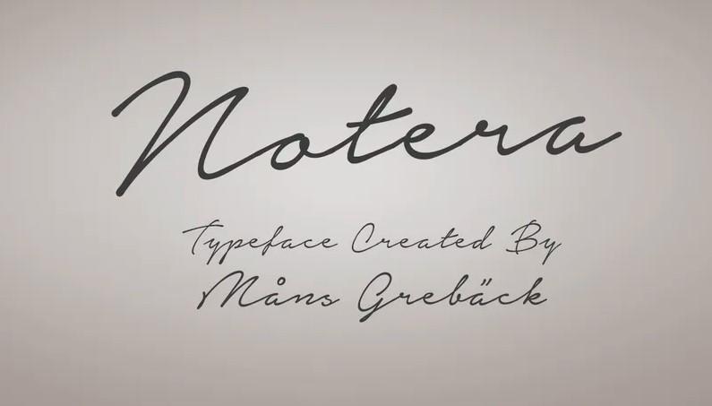 Notera Font View