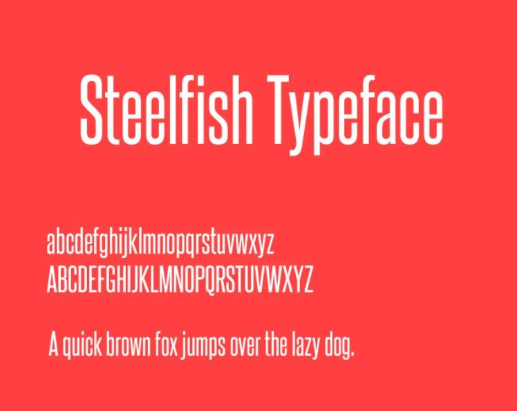 Steelfish Font View