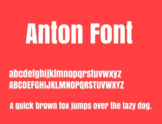 Anton Font View