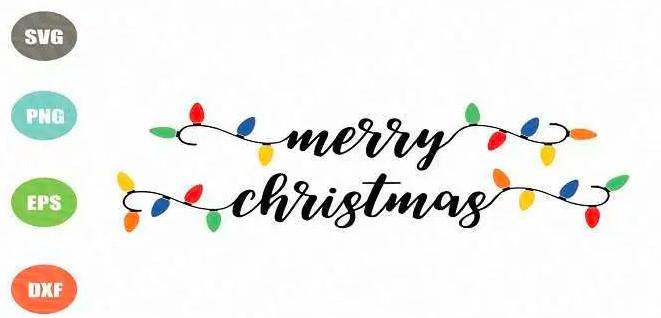 Christmas Light Font View