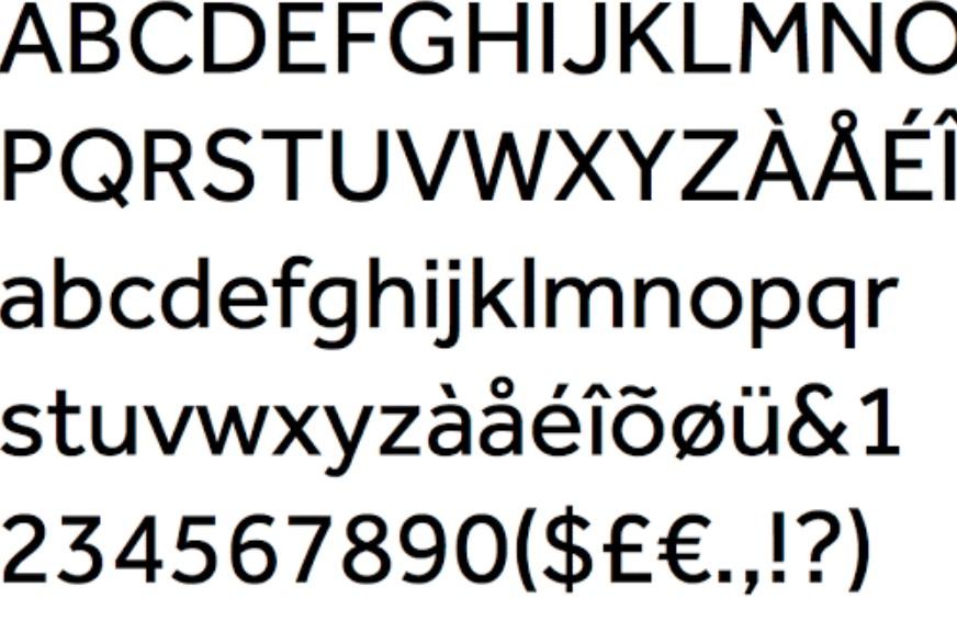 Effra Font View