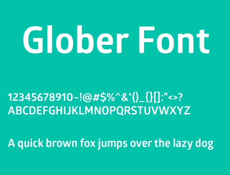Glober Font View