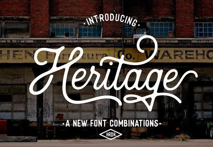 Heritage Font View