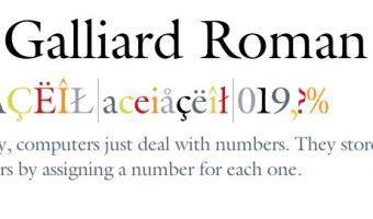 ITC Galliard Roman Font View