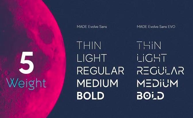 Made Evolve Sans Font View