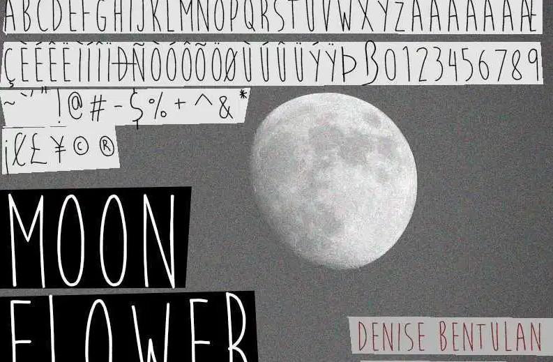 Moon Flower Font View
