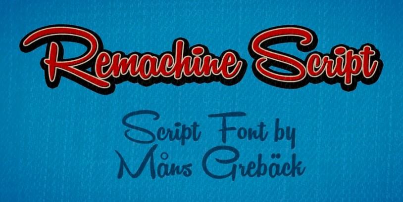 Remachine Script Font View